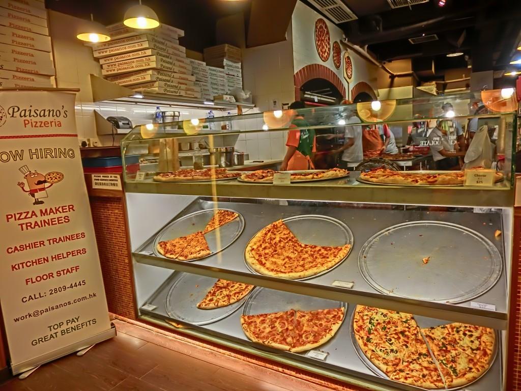 HK_TST_night_嘉蘭道_Granville_Road_restaurant_Paisano's_Pizzeria_pizza_Dec-2013